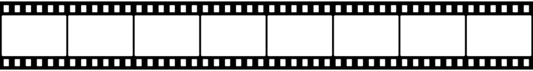 Cinema tape, a black film strip isolated on white background - stock vector