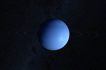 Planet Neptune, on a dark background. Elements of this image were furnished by NASA.