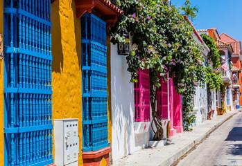Fotomurales - Colorful streets Getsemani Cartagena de los indias Bolivar Colo