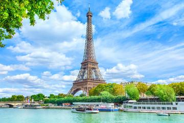 Tuinposter Eiffeltoren View of Paris with Eiffel tower