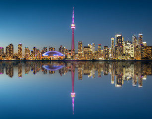 Photo sur Toile Toronto Toronto skyline at the morning