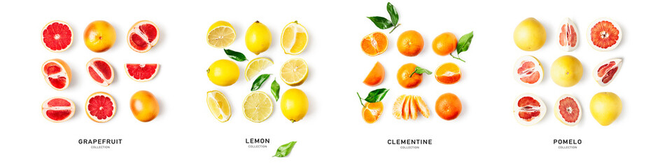 Different citrus fruits composition and creative banner