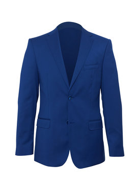 Mans suit on a white background