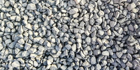 Foto auf Leinwand Steine texture of gravel stones on ground