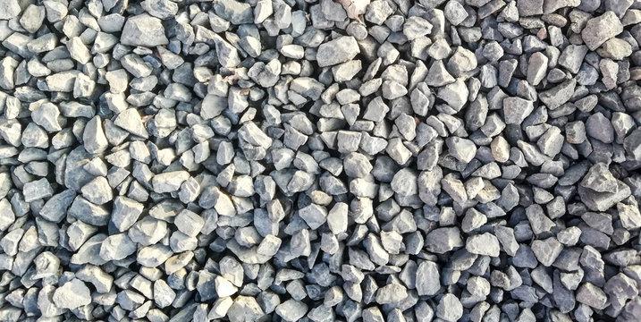 texture of gravel stones on ground