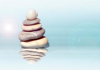 Photo sur Toile Zen pierres a sable Zen stones