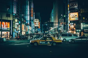 Fototapeta VIEW OF CITY STREET AT NIGHT