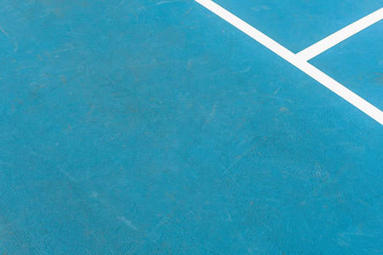 High Angle View Of A Tennis Court