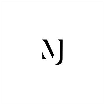 MJ Letter Logo Design Template