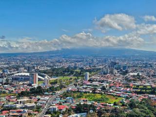 Aluminium Prints Dark grey Aerial View of San Jose, La Sabana, Costa Ricaa