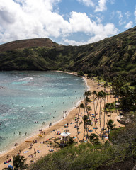 Hanauma Bay beaches and reef of Hawaii