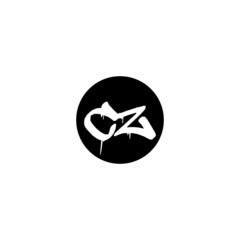 Fototapeta Initial CZ letter drip template design obraz