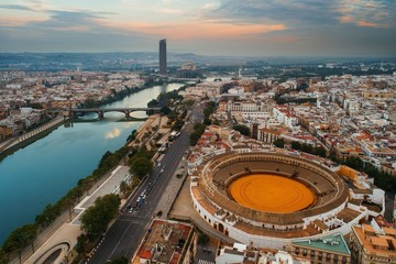 Seville aerial view Wall mural