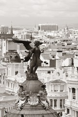 Fototapete - Madrid rooftop