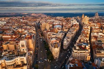 Aerial view of Gran Via