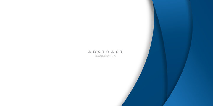 Modern blue abstract curve lines background for presentation design, banner, brocure, and business card