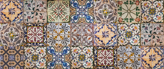 Background of vintage ceramic tiles