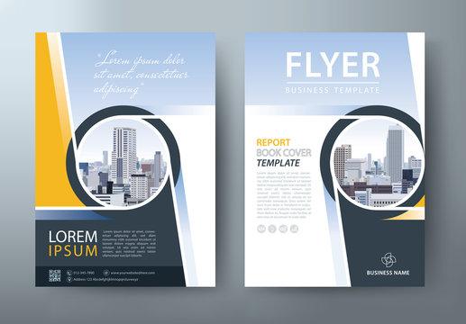 Flyer design, Leaflet cover presentation, book cover template vector.