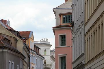 Foto op Canvas Artistiek mon. LOW ANGLE VIEW OF RESIDENTIAL BUILDINGS AGAINST SKY