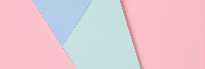 Abstract colored paper texture background. Minimal geometric shapes and lines in pastel pink, light...
