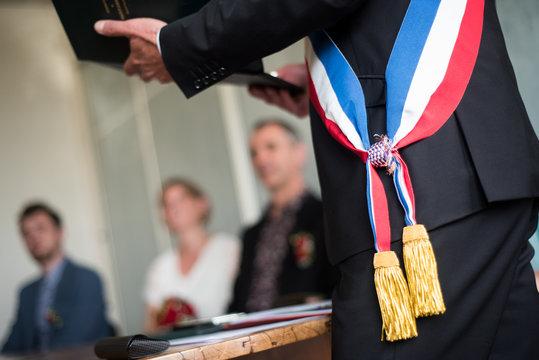 Echarpe maire France