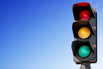 Feux de signalisation vert, orange, rouge Fotomurales