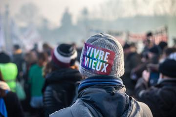 Manifestation contre la réforme des retraites à Paris le 24 janvier