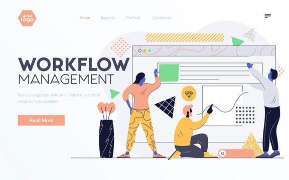 Flat Modern design Illustration of Workflow Management