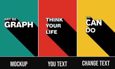poster template set  3D Text Effect Mockup posters you can change text