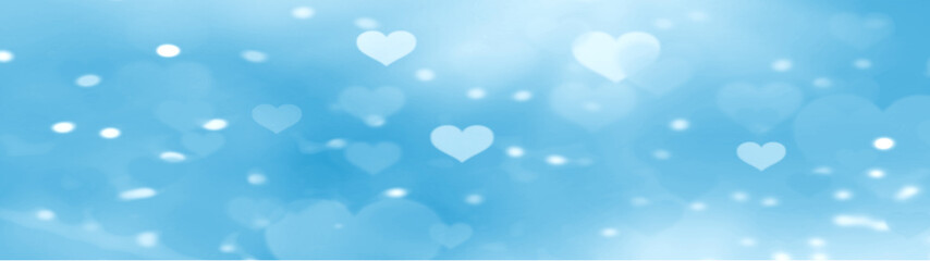 Abstract pastel background with heart glittering light bokeh concept for valentines day Love day Banners for websites Computer screen And beautiful design