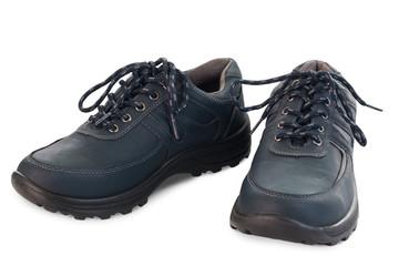 Paar blaue Schuhe