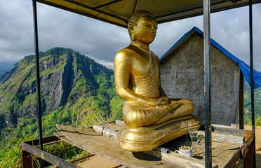 Buddha statue in the Little Adam's Peak in Ella, Sri Lanka.