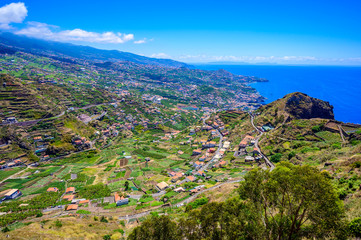 Wall Mural - Beautiful mountain scenery around Funchal, Highland of Madeira Island, Portugal