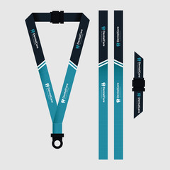 Blue lanyard template for dentist