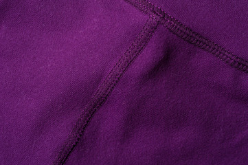 Fragment of crumpled purple polyester wear Fotomurales