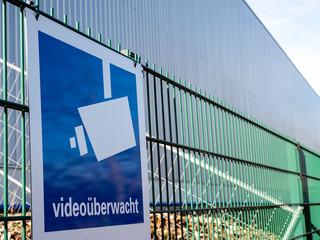 Achtung das Objekt ist videoüberwacht Schild
