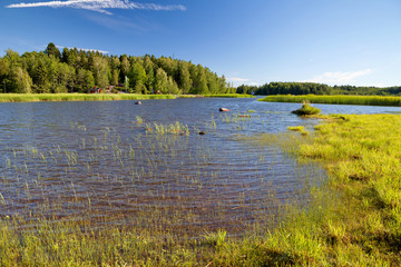 Hamina, Finland - typical local landscape, summer