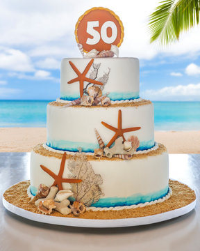 Pastel de cumpleaño 50
