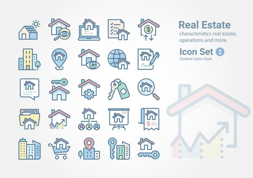Real Estate vector icon collection Vol. 2