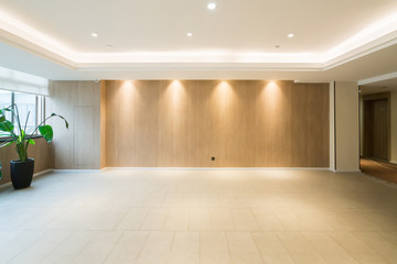 Modern decor style lobby with empty floors and walls Fotomurales