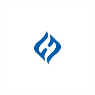 FH F H Letters Logo Design Vector