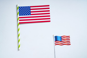 Concept of president day , American national flag