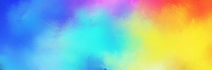 colorful vibrant aged horizontal background with medium turquoise, pastel orange and royal blue color