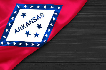 Flag of Arkansas place for text cope space