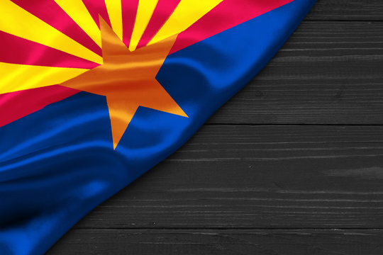 Flag of Arizona place for text cope space