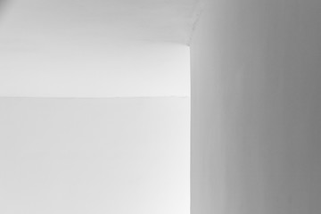 Abstract minimal architecture background, white walls