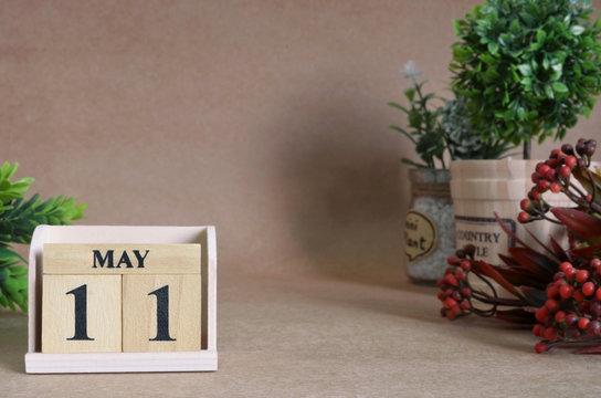 May 11, Vintage natural calendar.
