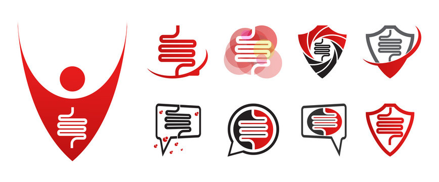 Human intestine icon for application or website