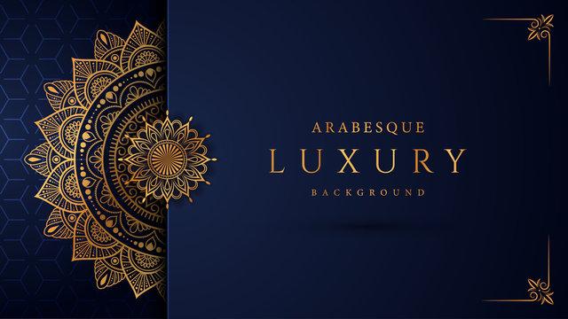 Luxury mandala background with golden arabesque pattern arabic islamic east style.decorative mandala for print, poster, cover, brochure, flyer, banner.