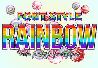 Rainbow Text Effect Mockup